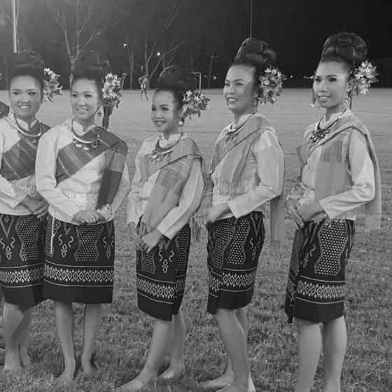 Thai dancers following their performance