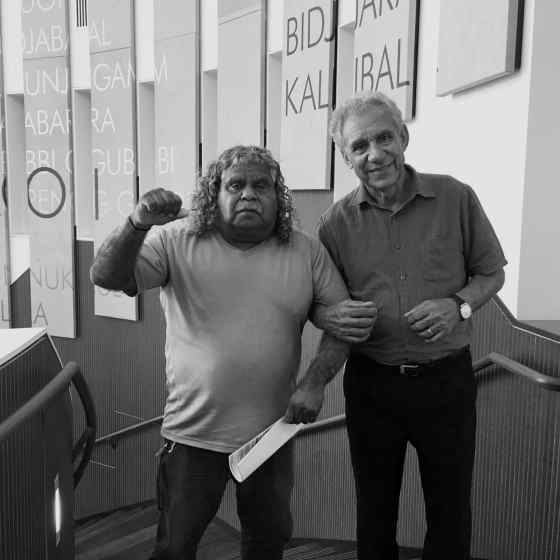 NO MORE Campaign Founder Charlie King links up with ATSICHS Brisbane Ltd Chairman Uncle Billy in Brisbane.