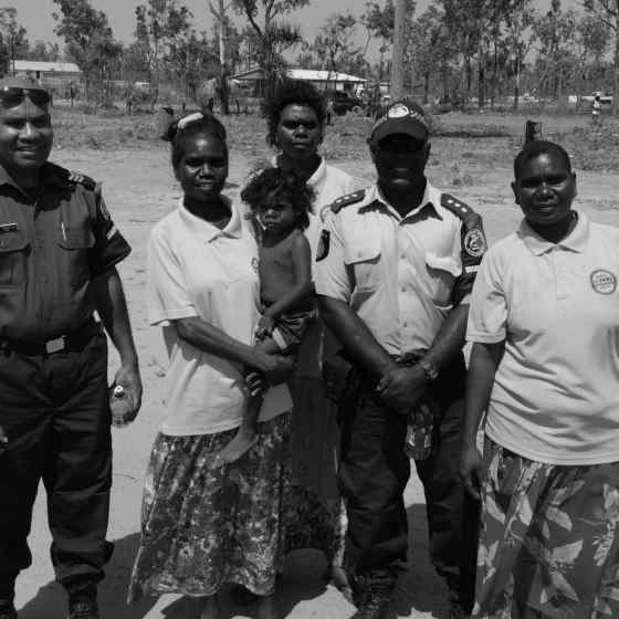 NO MORE workers, NT Police, PNG Police and AFLNT all link up to say NO MORE family violence.