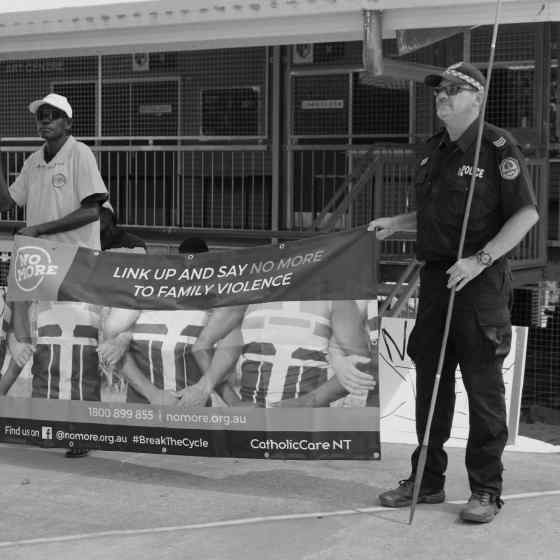 NT Police and community leaders show their support for the NO MORE Campaign.