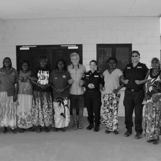 The local women's group has developed a strategy in dealing with families who experience violence. They all link up with the NO MORE Campaign.