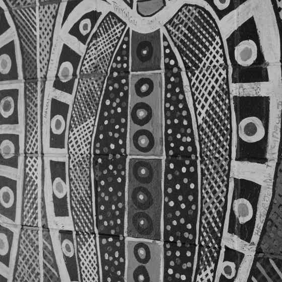 Tiwi artwork on arrival to Bathurst Island.