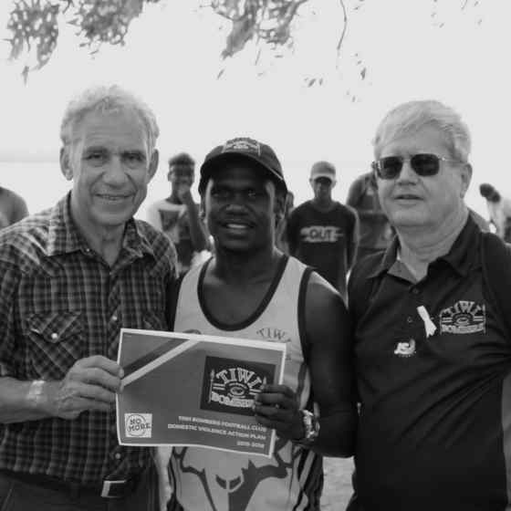 Tiwi Bombers launch their Domestic Violence Action Plan.