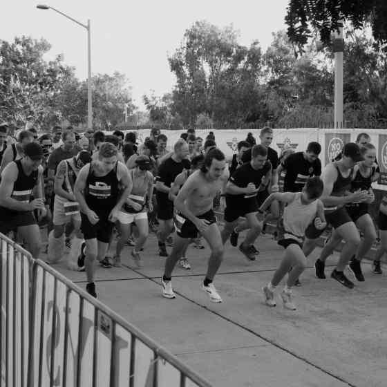 Start of the 5k run.