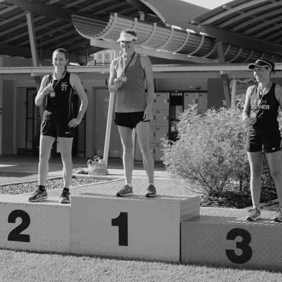 Winners of the women's 5k run.